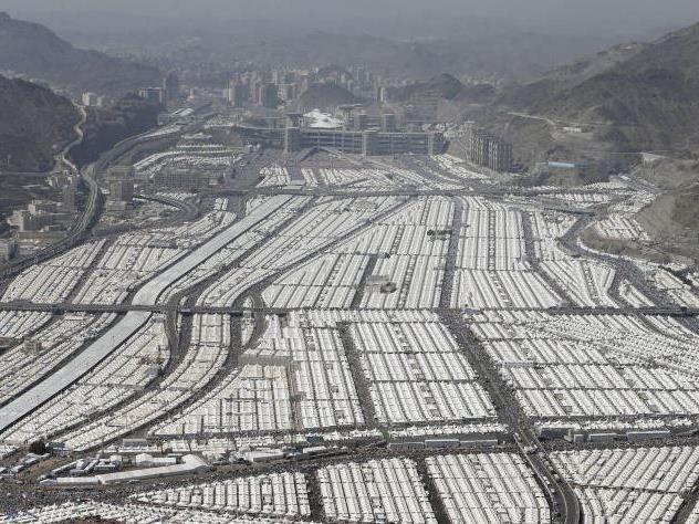 Zeltstadt in Mina, Saudi Arabien.