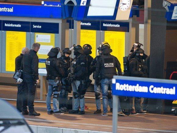 Anti-Terror-Einsatz in Rotterdam.