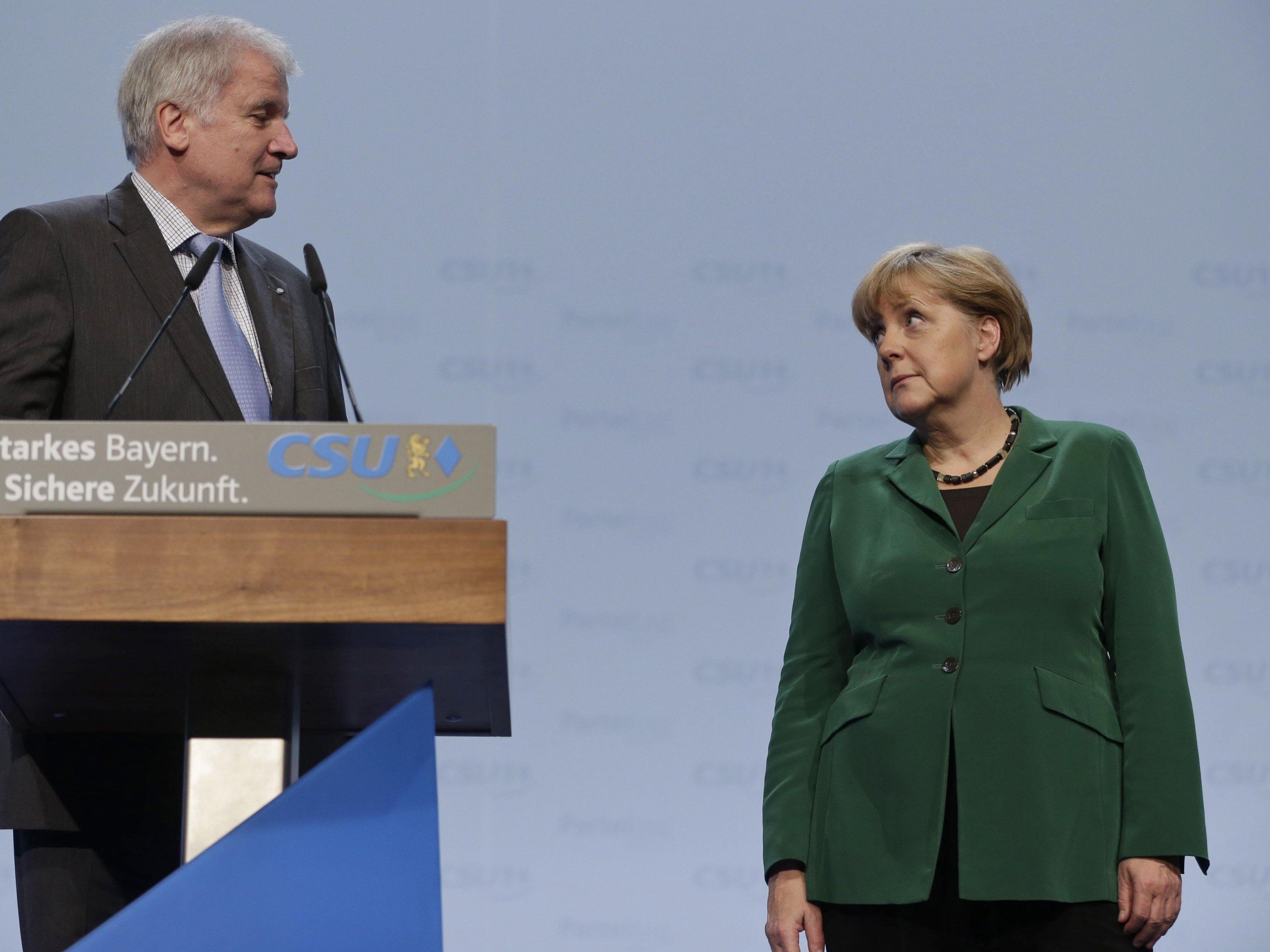 Waren und werden wohl auch keine besten Freunde mehr: Seehofer (CSU) und Merkel (CDU).