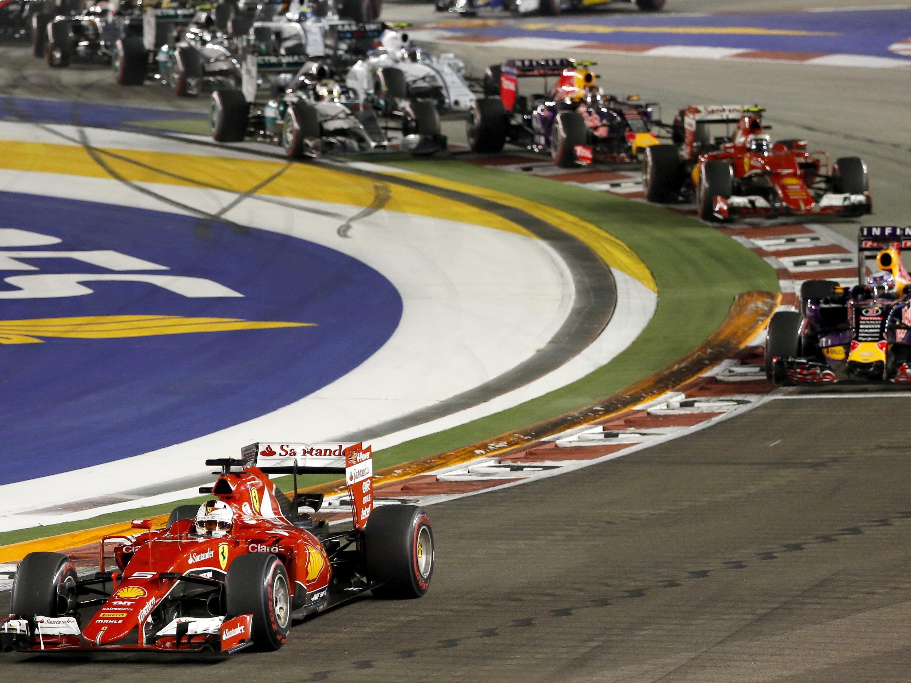 Sebastian Vettel war im Nachtrennen von Singapur der wachste.