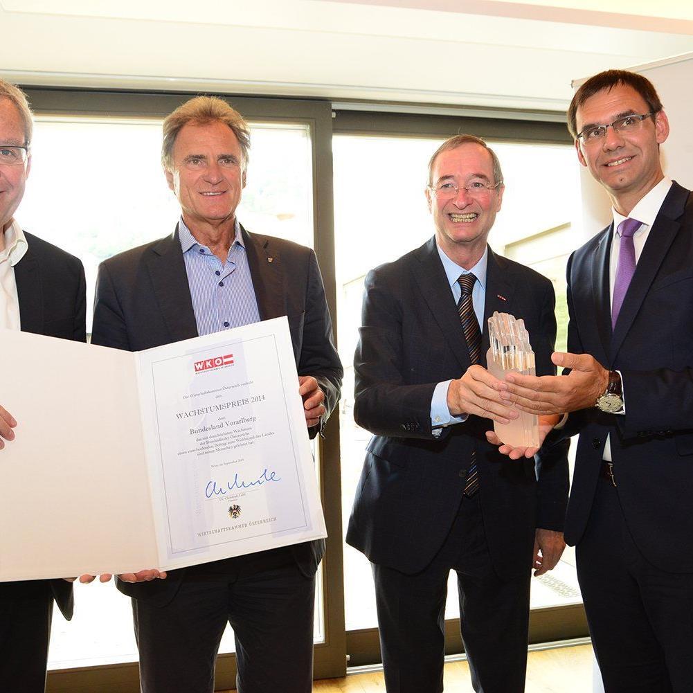 Wirtschaftswachstumspreis 2014 der WKO für Vorarlberg.