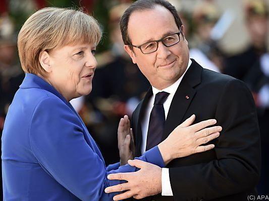 Angela Merkel und Francois Hollande besprachen in Paris Syrien-Krise