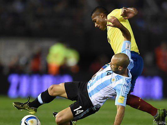 Argentinien verlor 0:2 gegen Ecuador
