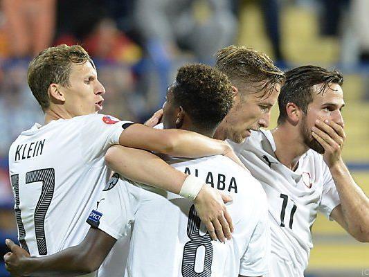 Österreich siegte nach schwerem Spiel