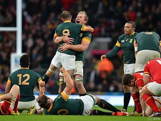 """Die """"Springboks"""" mühten sich zum Sieg gegen Wales"""