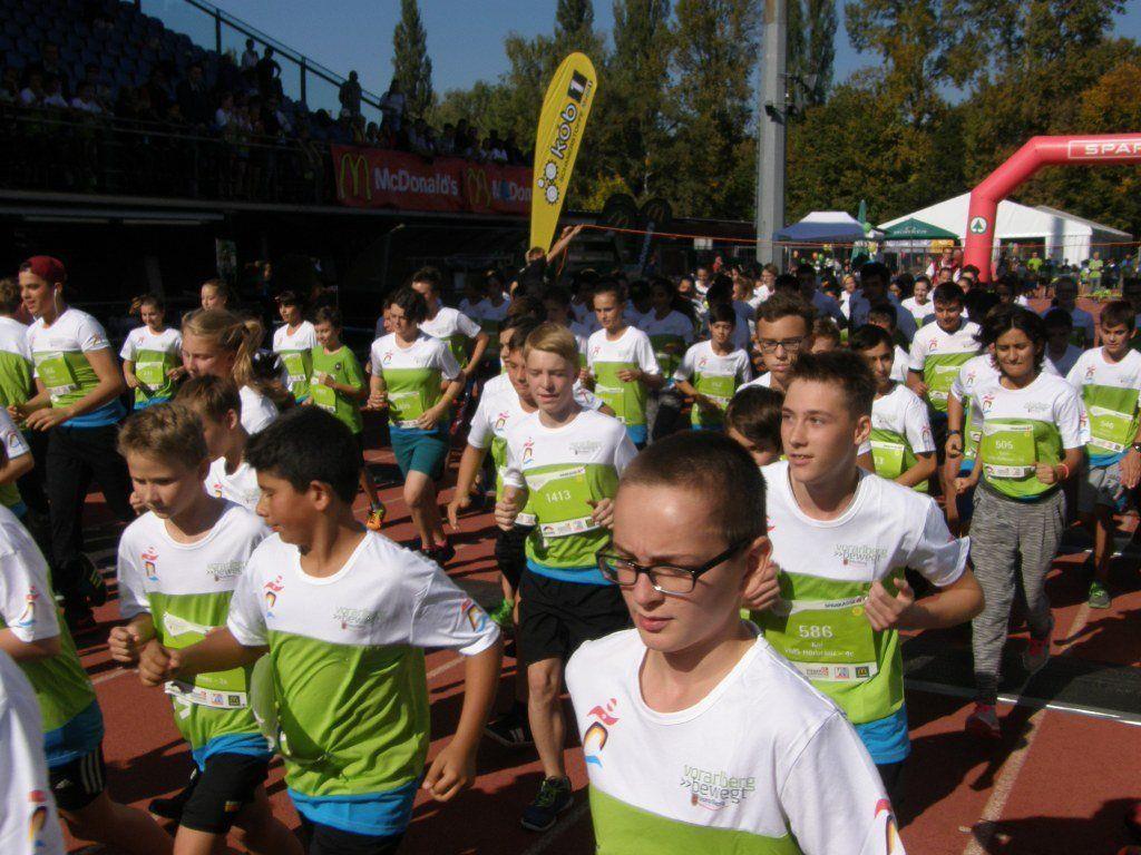 Der Kindermarathon erfreute sich auch heuer wieder großer Beliebtheit.