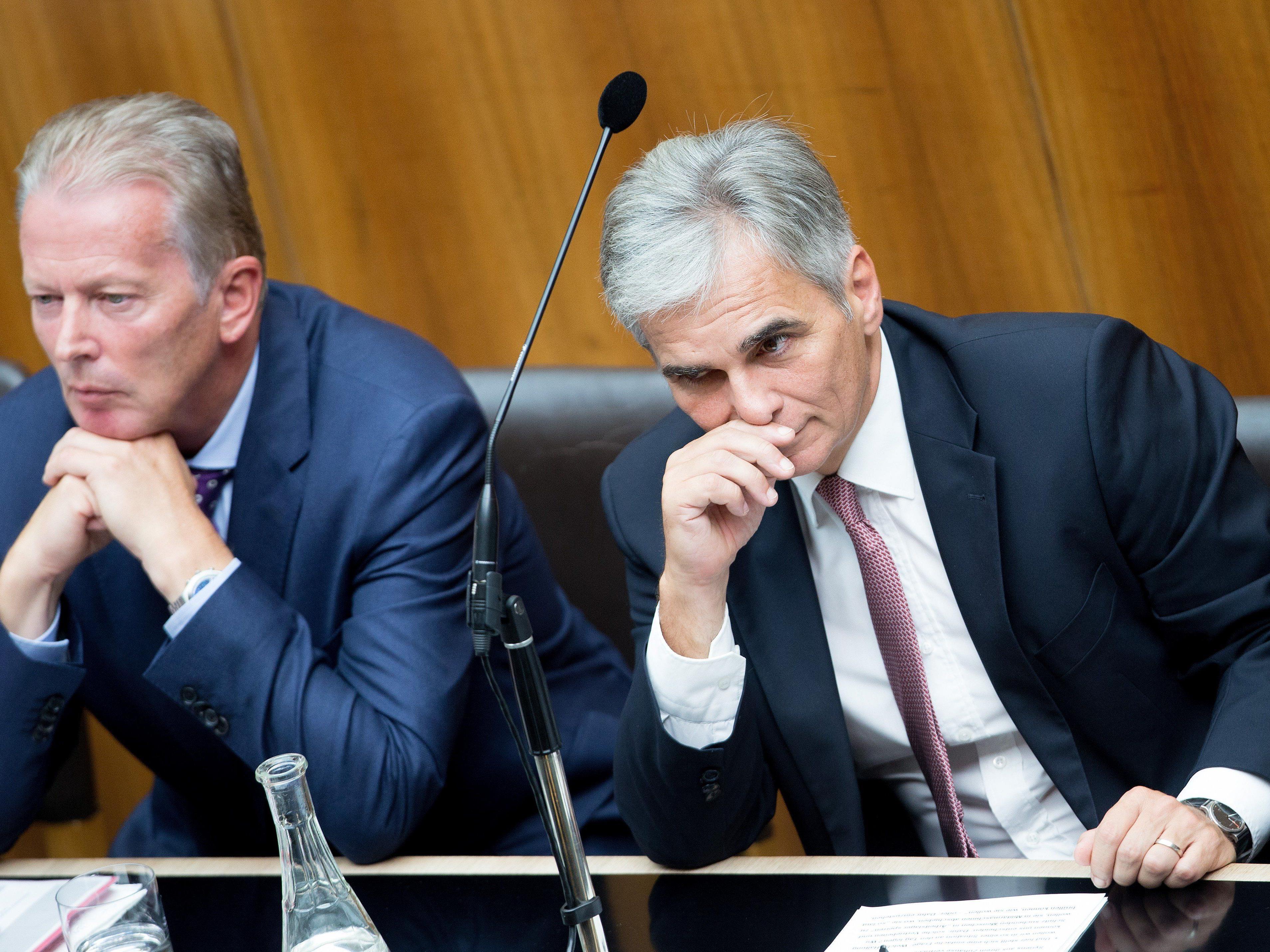 """Mitterlehner stellt SPÖ Rute ins Fenster - auch wenn ihm der """"Begriff nicht gefällt""""."""