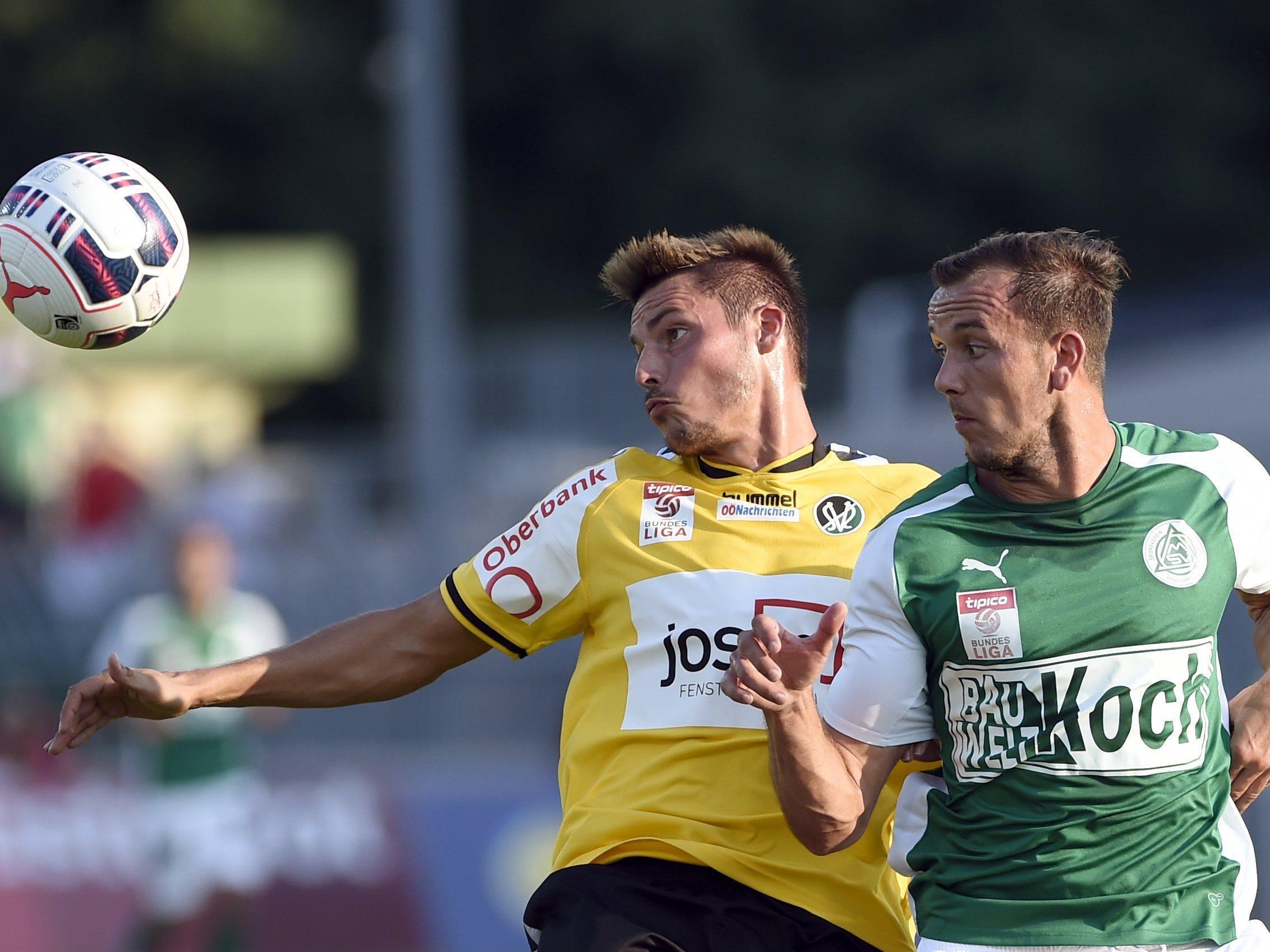 LIVE-Ticker zum Spiel SV Ried gegen SV Mattersburg ab 18.30 Uhr.