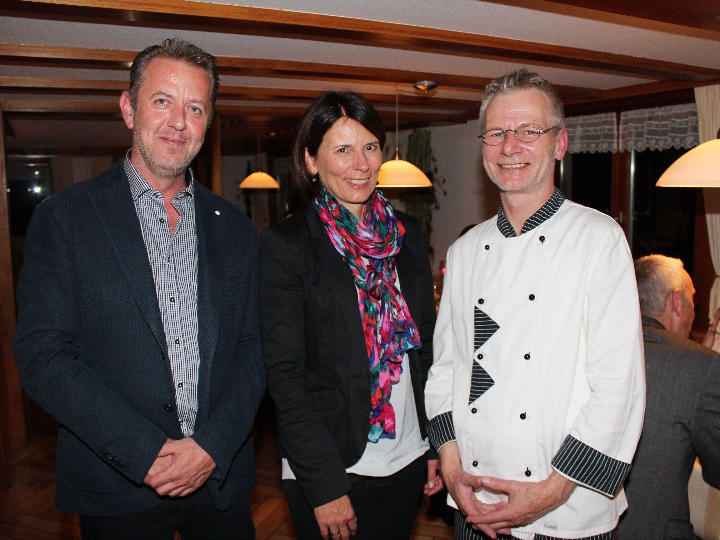 Stefan Tiefenbacher, Bgm. Judith Schilling-Grabher und Michael Fiebiger.