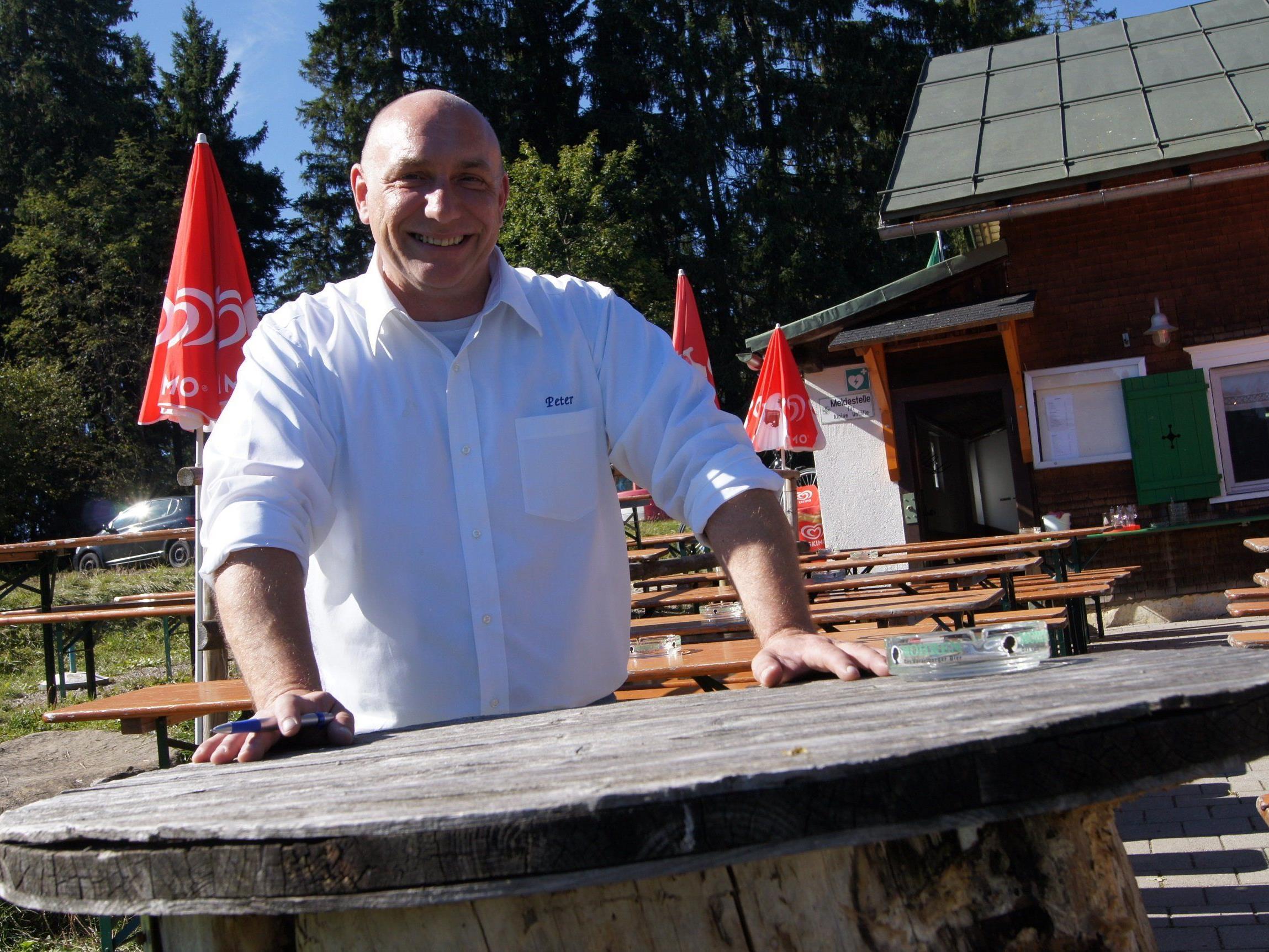 Peter Plautz – seit Oktober neuer Hüttenwirt.