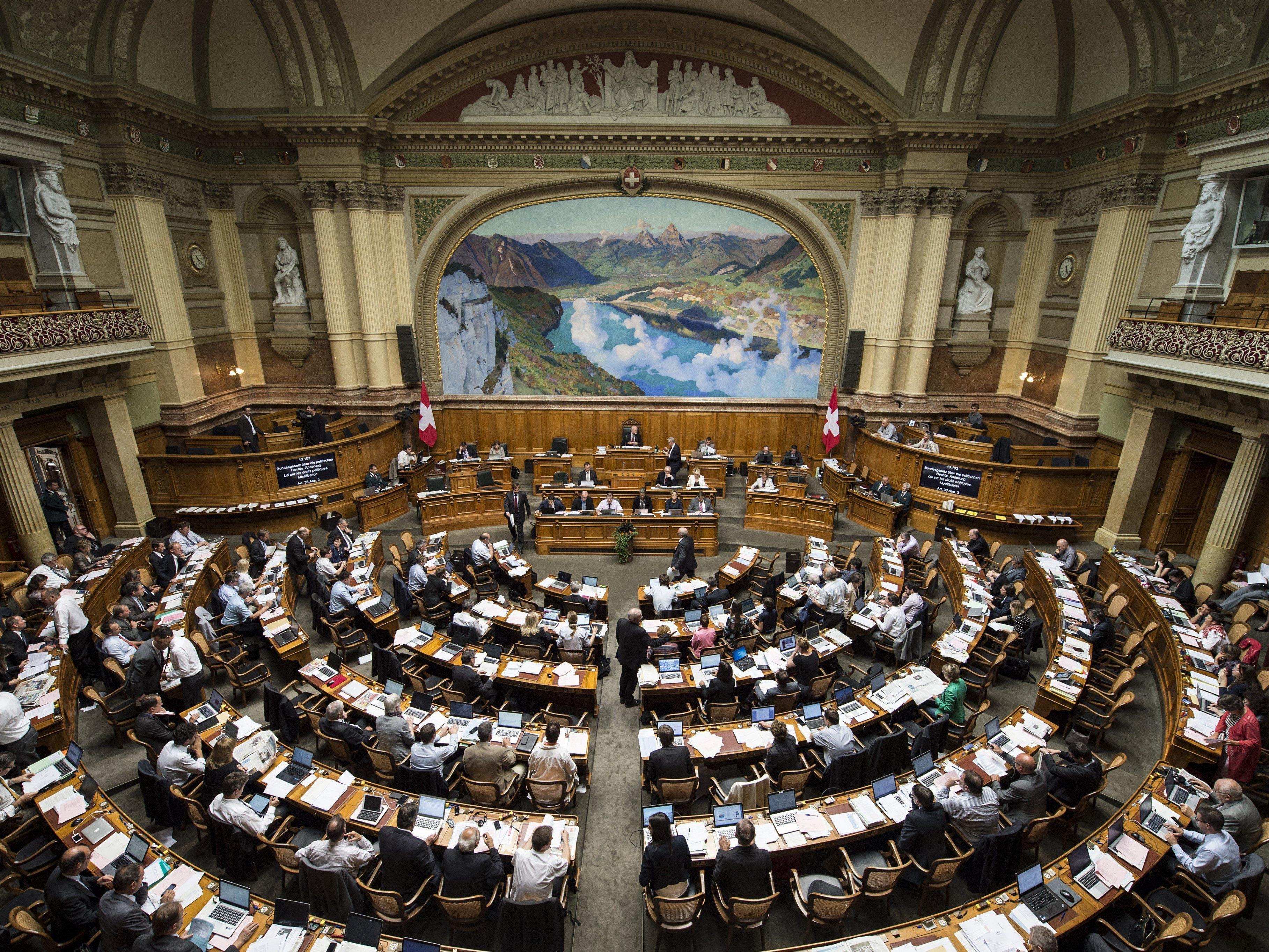 Verschiebungen im Schweizer Parlament von Mitte-Links nach Mitte-Rechts.