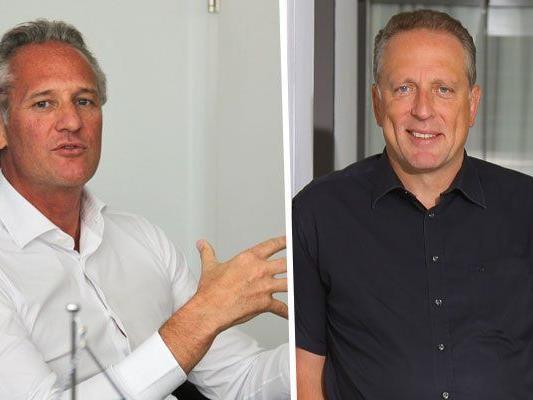 Martin Ohneberg von der IV (l.) und AK-Präsident Hämmerle (r.) sehen Licht und Schatten.