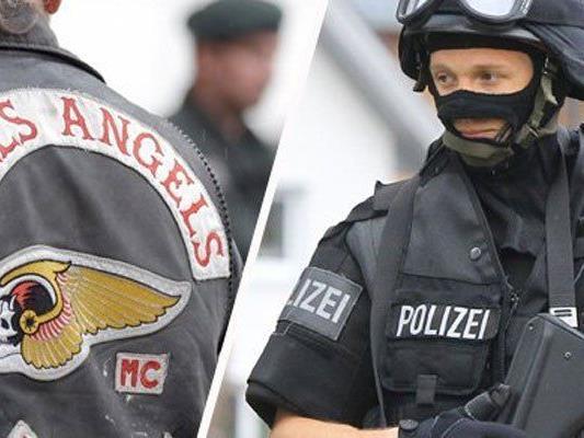 """Einige Festgenommene sind Mitglieder der """"Hell's Angels""""."""