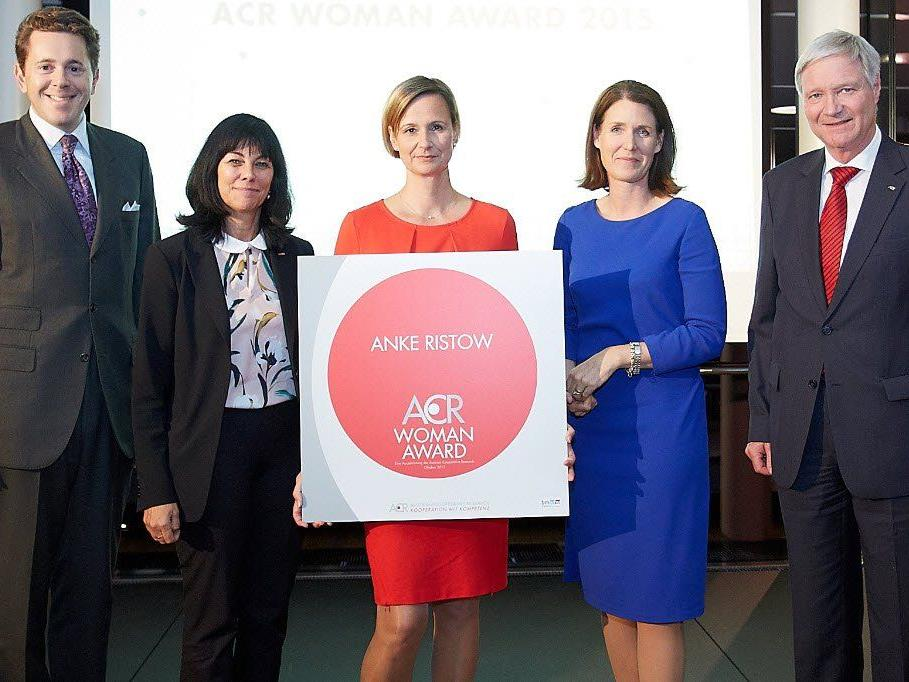 Der ACR Woman Award ging an die Maschinenbauingenieurin Anke Ristow von V-Research