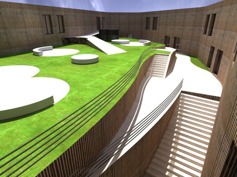 So oder so ähnlich könnten die Innenhöfe der Seestadt in Bregenz aussehen