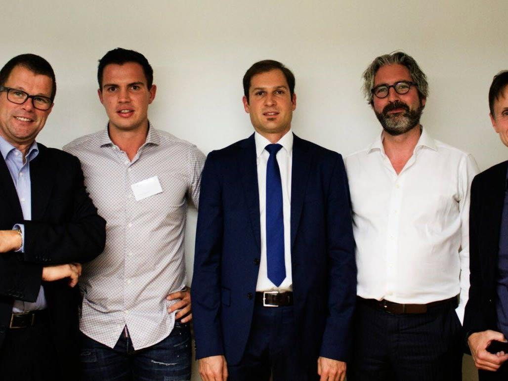 Konrad Hilbers (HSE24), Florian Wassel (TOWA), Reinhard Prügl (Zeppelin Universität), Alexander Stoeckel (b-to-v), Martin Eberle (Eberle Automatische Systeme)