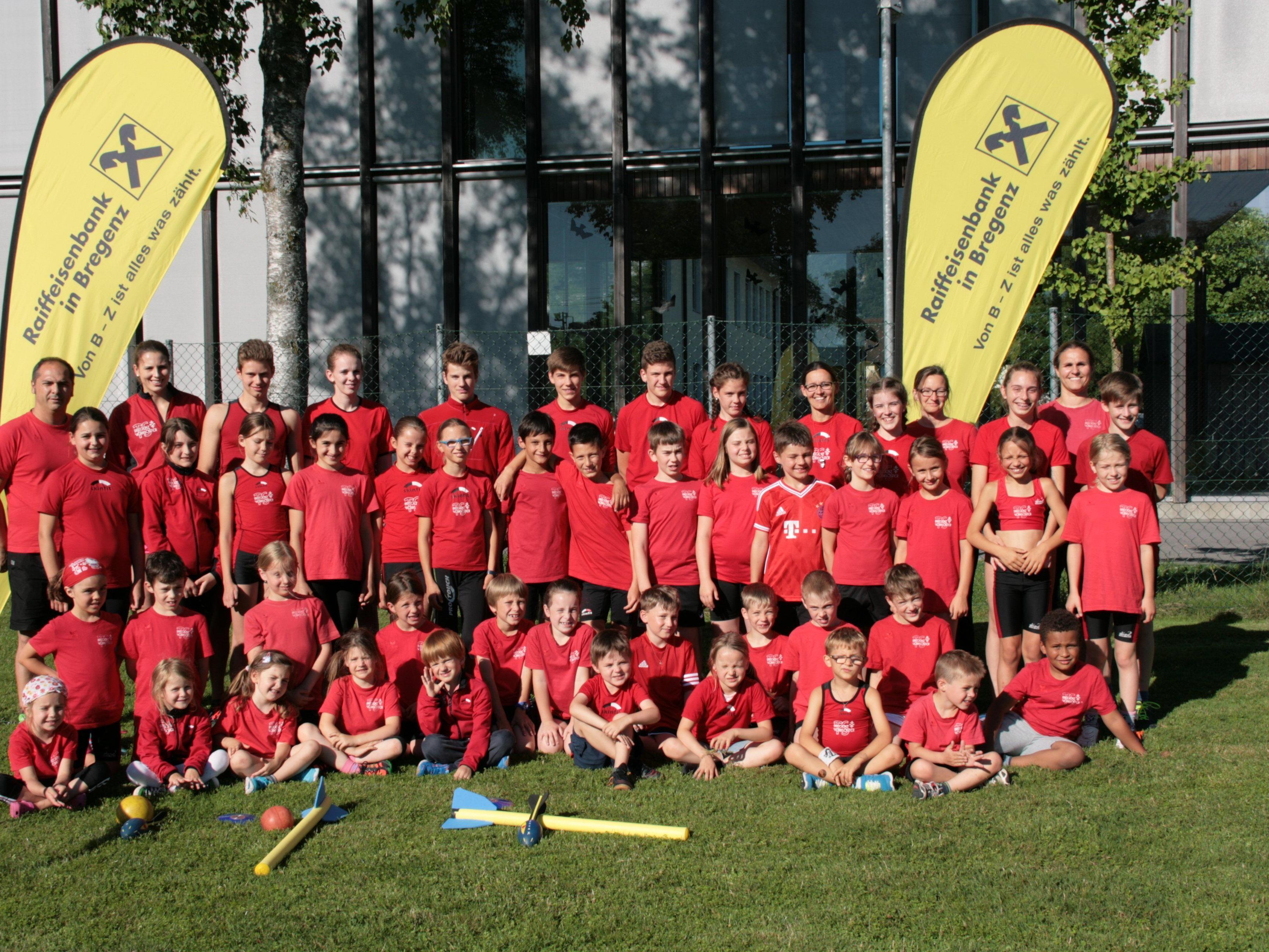 Die Leichtathleten der TS Bregenz-Vorkloster feierten im VLV-Nachwuchscup den zweiten Rang.