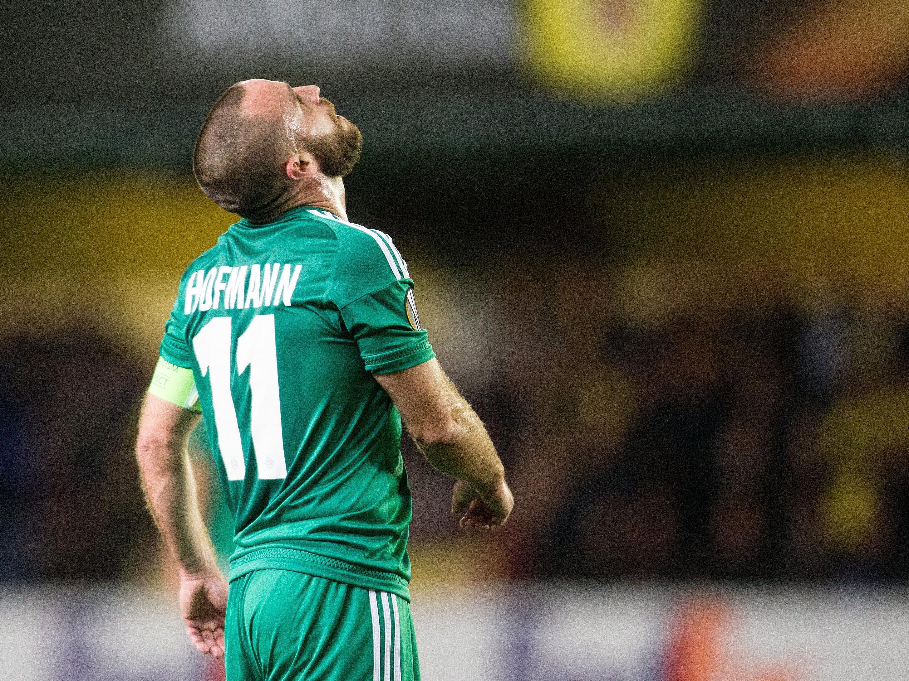Rapid Wien musste sich am Donnerstagabend gegen Villarreal geschlagen geben.