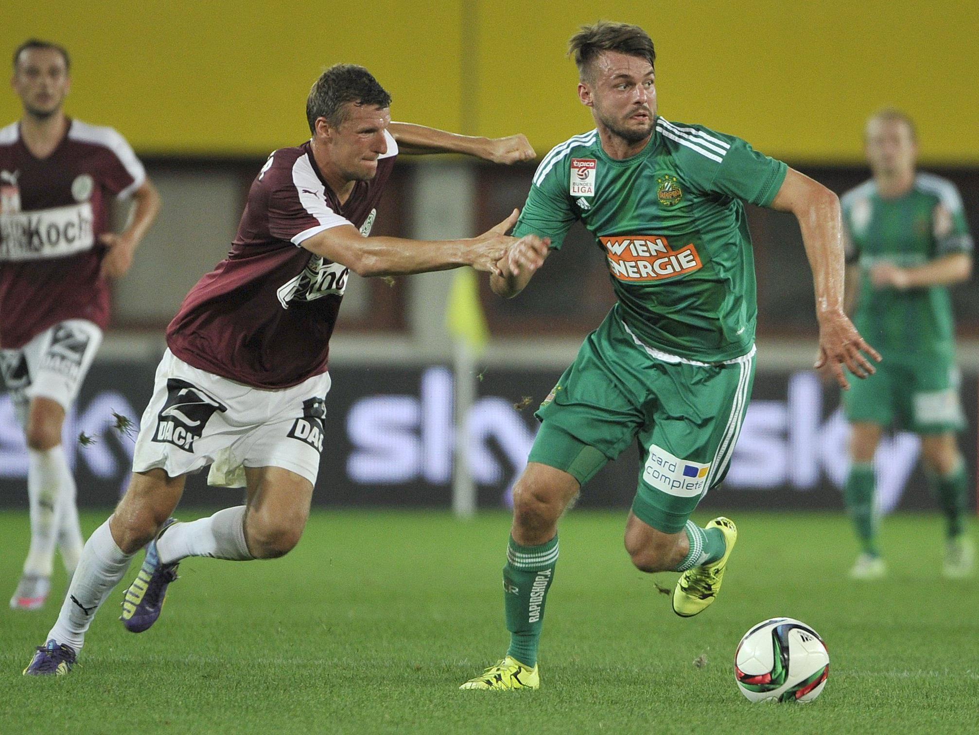 LIVE-Ticker zum Spiel SV Mattersburg gegen SK Rapid Wien ab 18.30 Uhr.