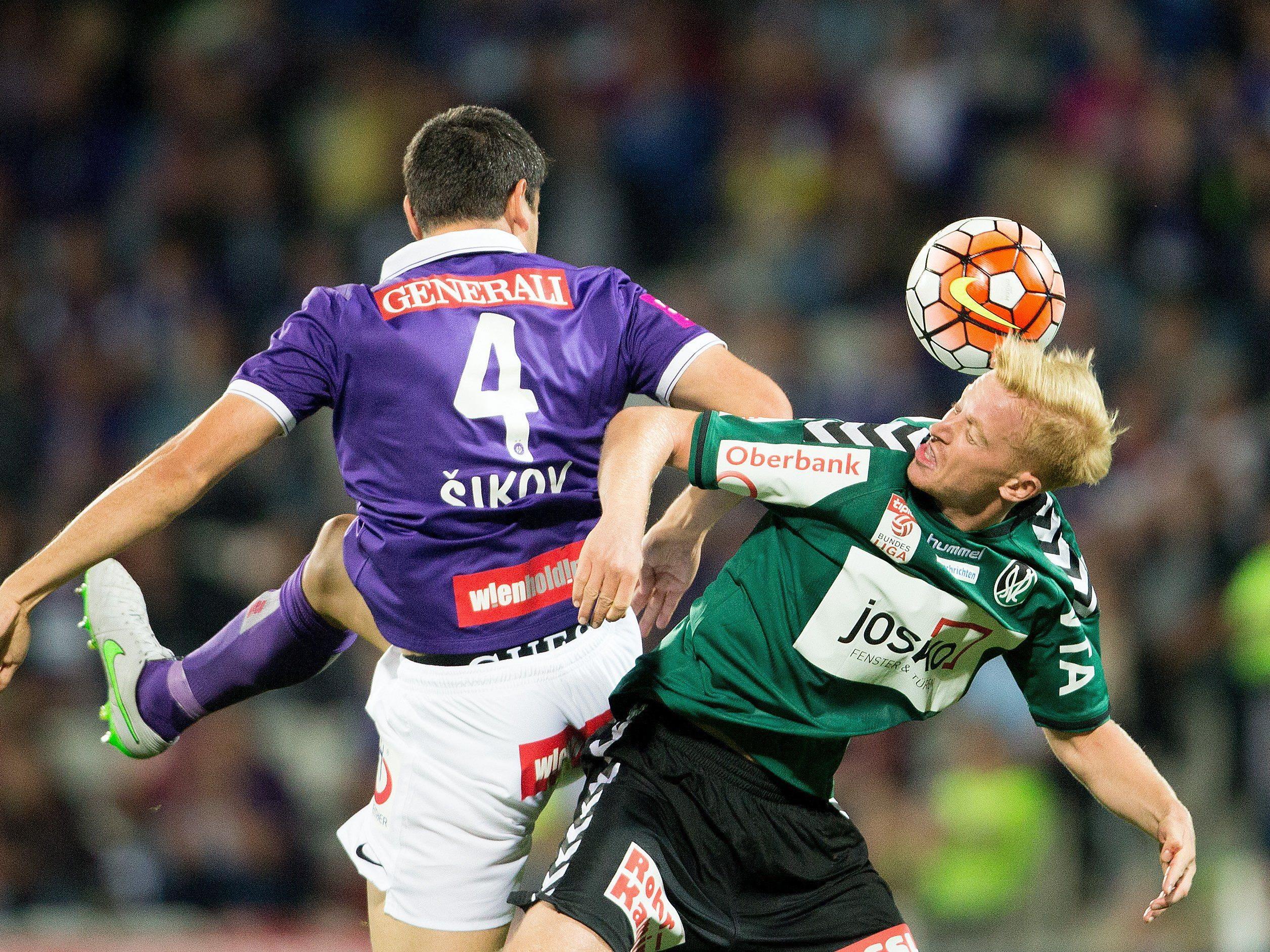 LIVE-Ticker zum Spiel SV Ried gegen FK Austria Wien ab 16.30 Uhr.