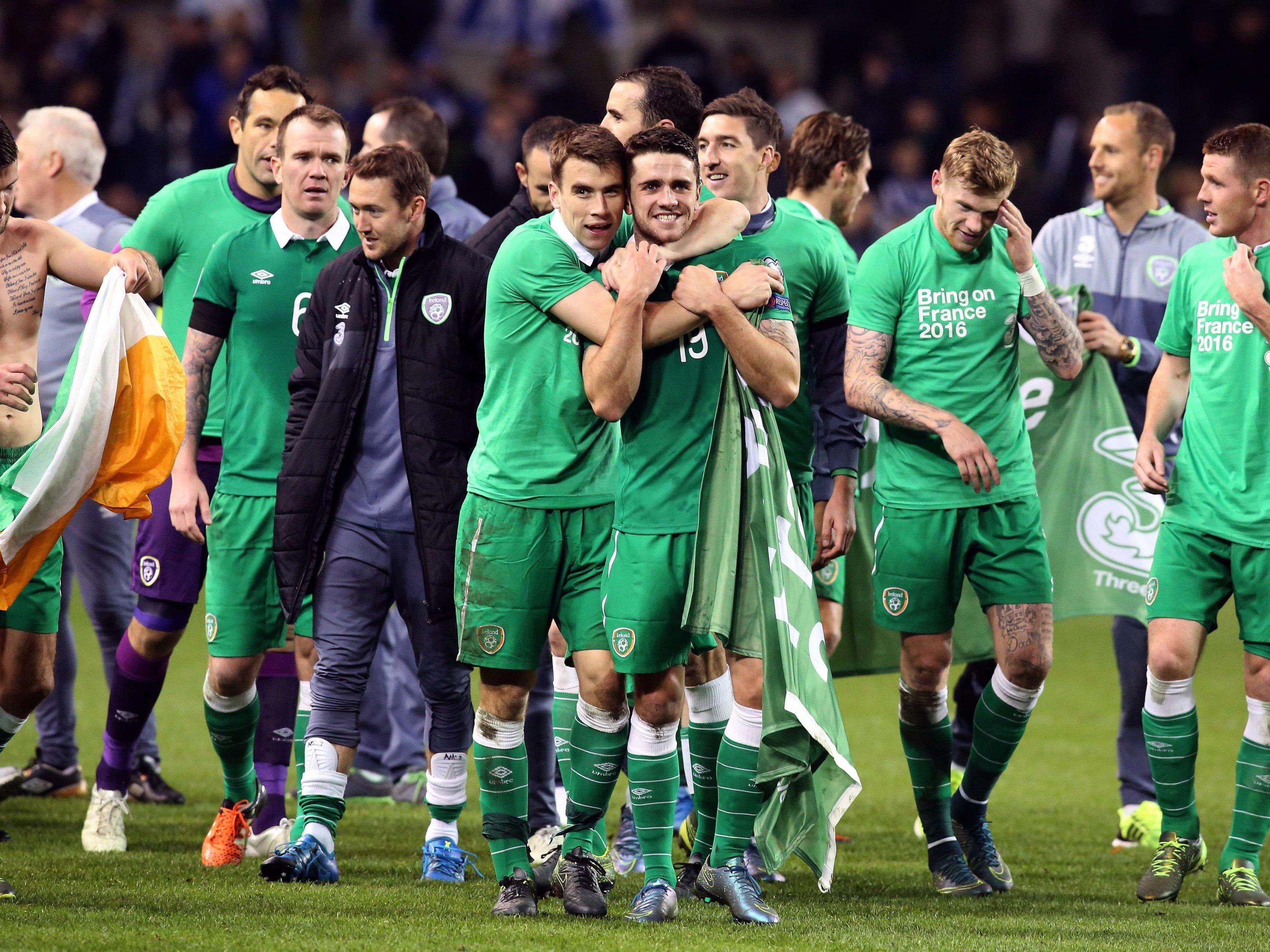 Irland ist bei der EM in Frankreich 2016 dabei.