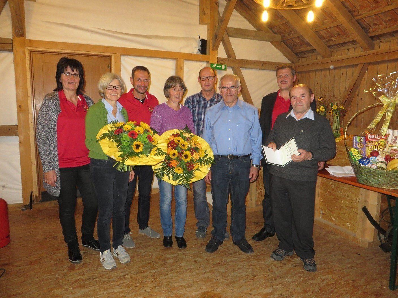 Ehrung verdienter Vereinsmitglieder des OGV Alberschwende