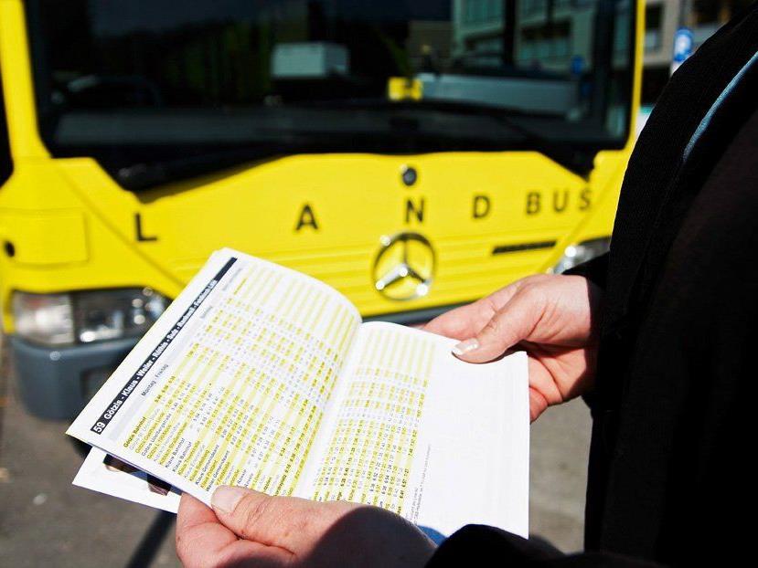 Fahrplanwechsel bei Landbus Oberes Rheintal und Stadtbus Feldkirch.