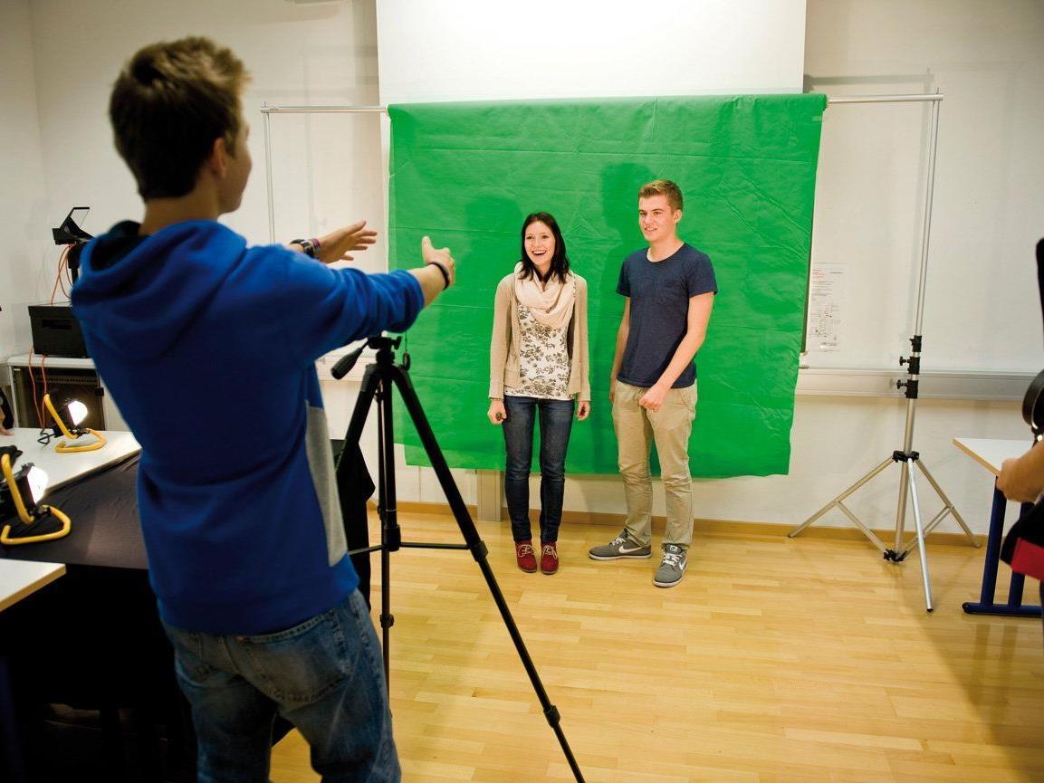 Ein Highlight für die Schüler, das erste selbst gedrehte Video.