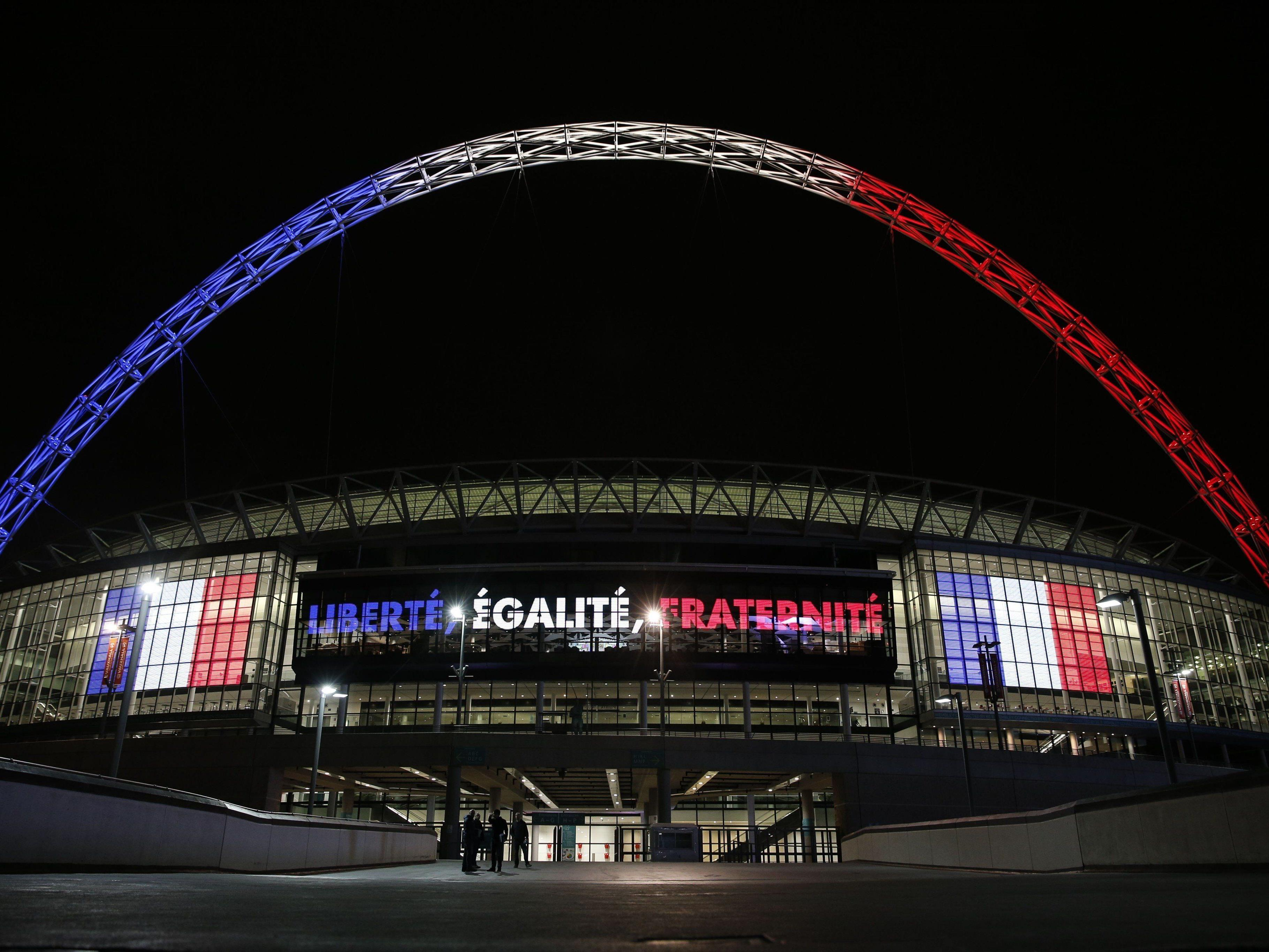 Im Wembley-Stadion trifft England auf Frankreich.