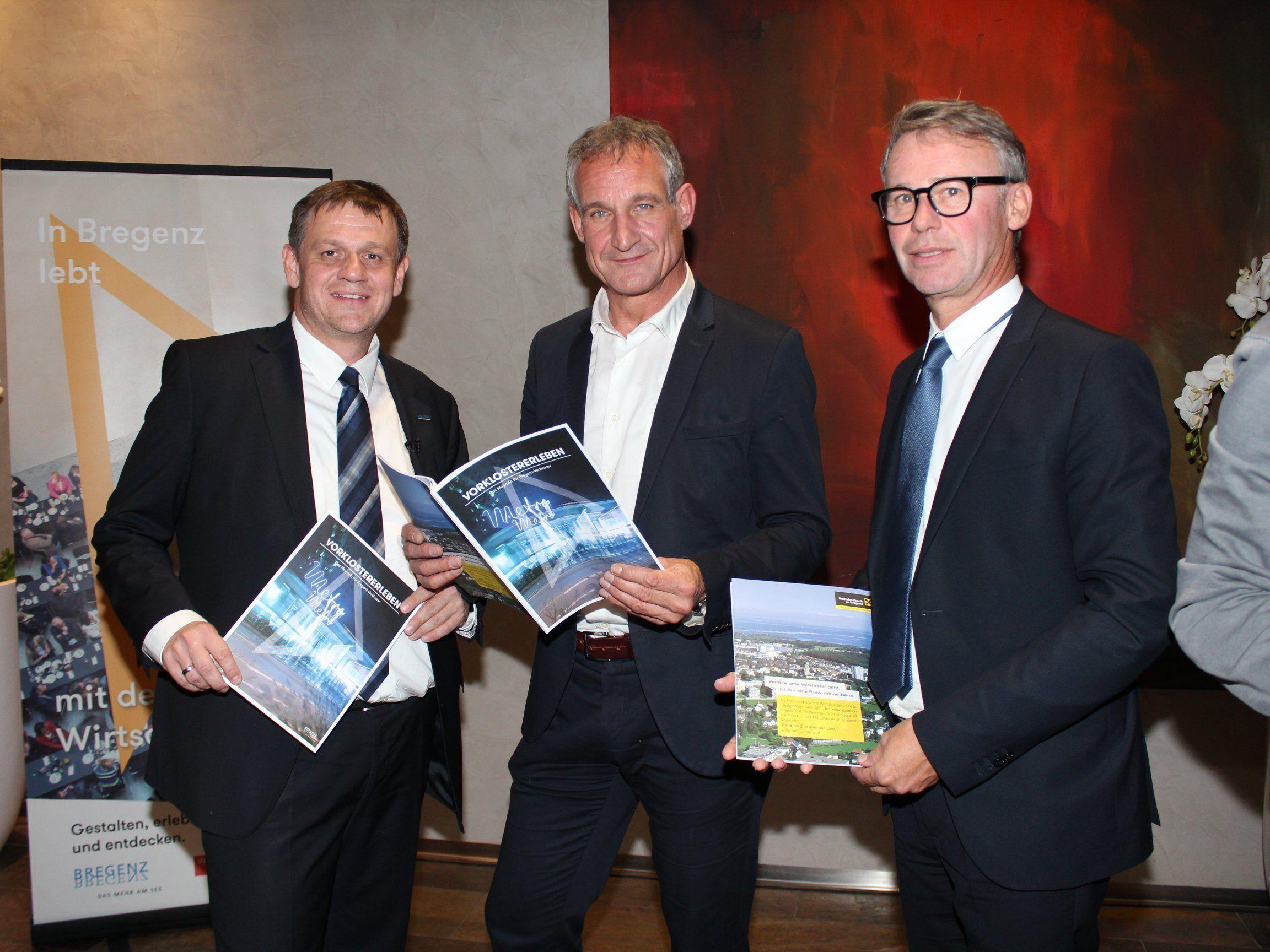 Christoph Thoma, Bgm. Markus Linhart und Gerhard Sieber.