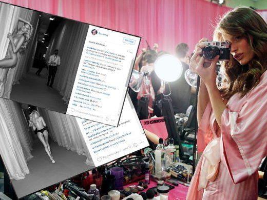 Hinter der Bühne hat die Models zum Teil gar nichts mehr an.