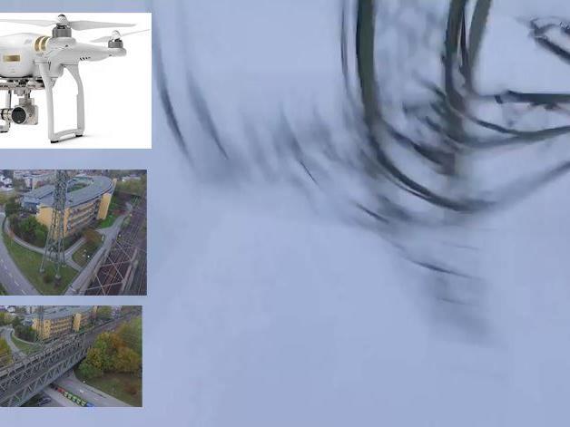 Der Pilot steuerte seine Drohne versehentlich in eine Hochspannungsleitung.