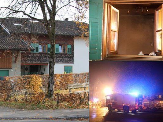 Nach Mord in Frastanz: Tatverdächtiger schweigt. Im Bild: der Tatort.