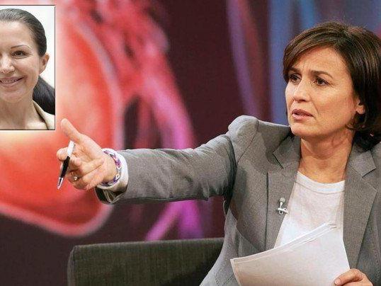 Barbara Kappel ist bei Sandra Maischberger in der Sendung.