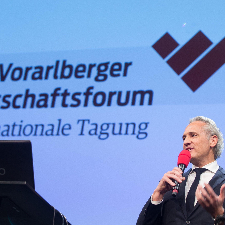 """Martin Ohneberg, im Bild auf dem 32. Vorarlberger Wirtschaftsforum, fordert im Interview mit dem Wirtschaftsblatt """"Taten statt Worte""""."""