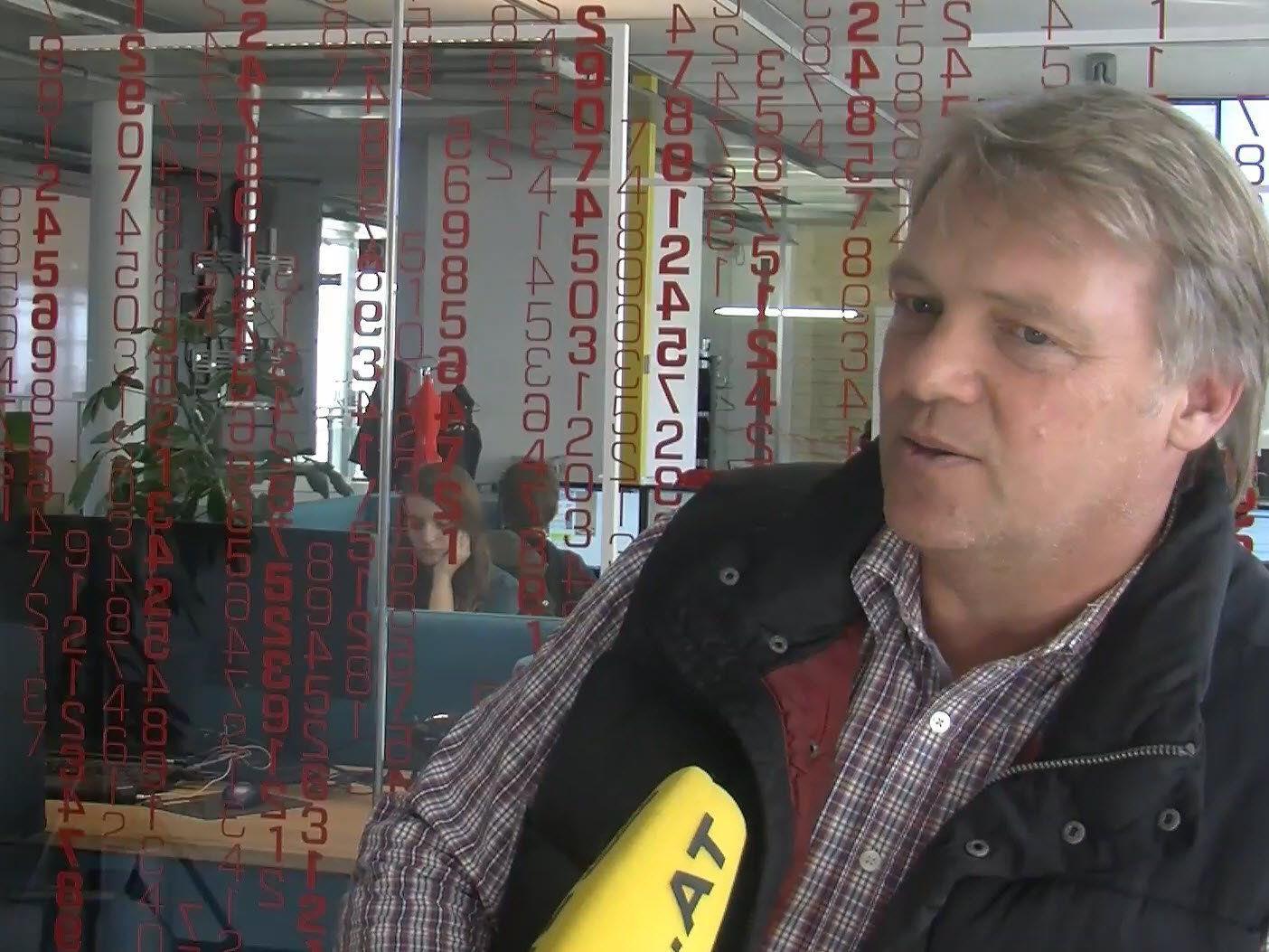Musste in den letzten Tagen oft beruhigen: PV-Anlagenbauer Andreas Müller.