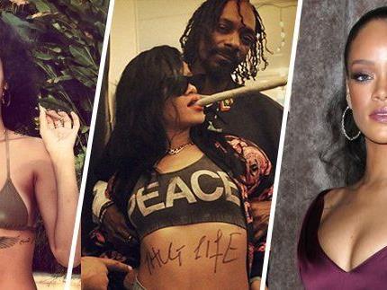 Rihanna steht dazu, dass sie Cannabis konsumiert.