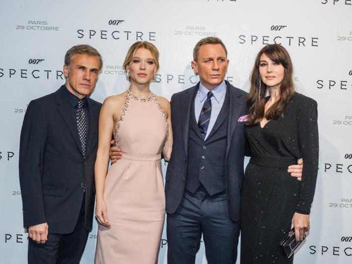 Christopher Waltz, Lea Seydoux, Daniel Craig und Monica Bellucci