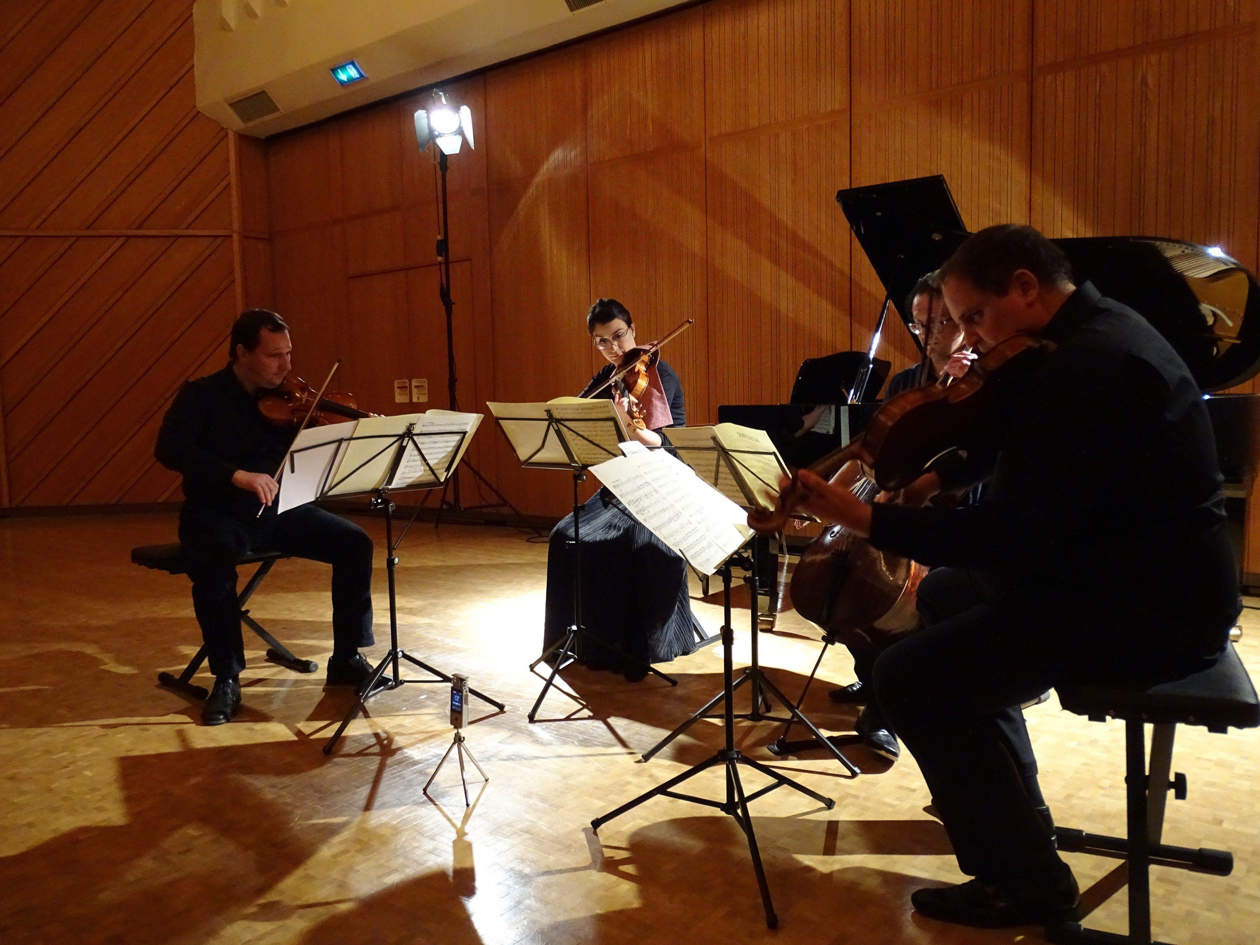 Das Montfort-Quartett widmete seinen letzten Konzertabend dieses Jahres den musikalischen Begegnungen.