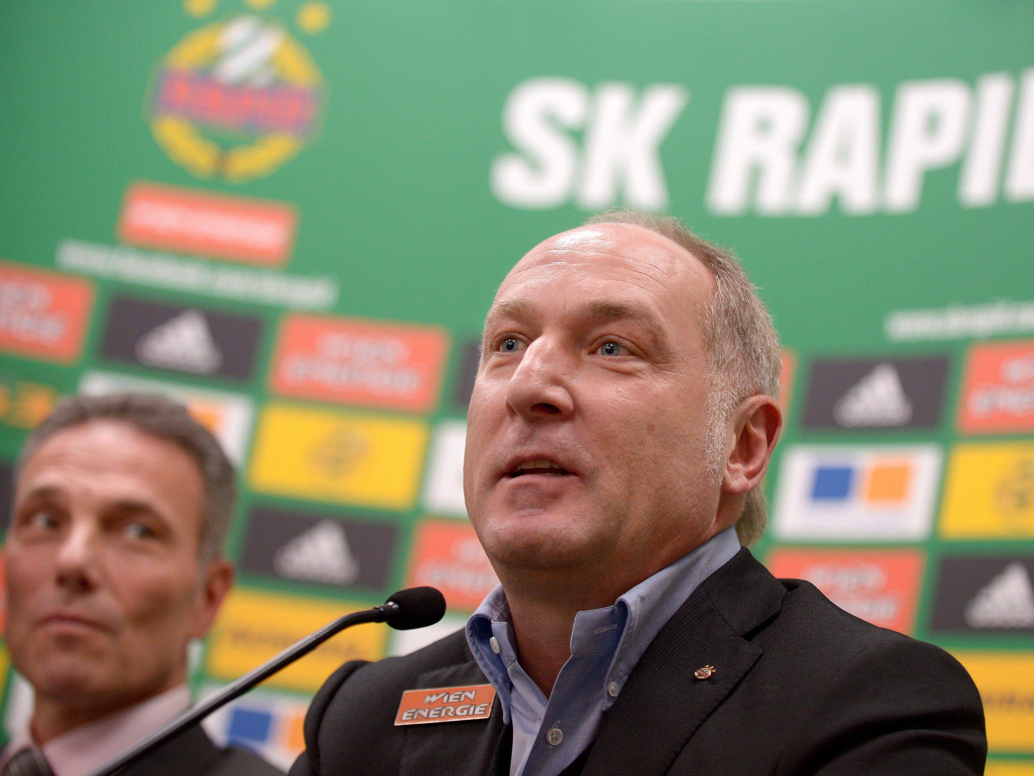 Auf Rapid-Sportdirektor Andreas Müller wartet viel Arbeit.