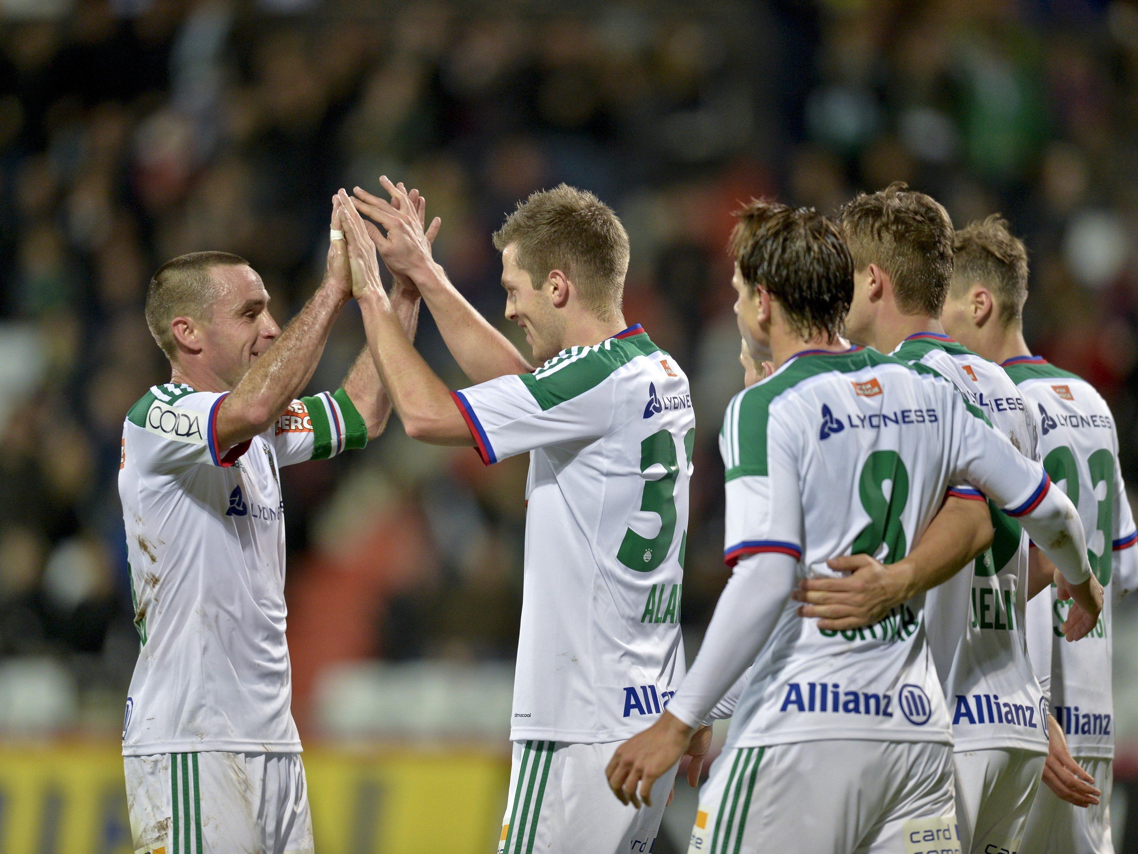 Trotz dem Treffer von Deni Alar musste sich Rapid Wien der Admira geschlagen geben.