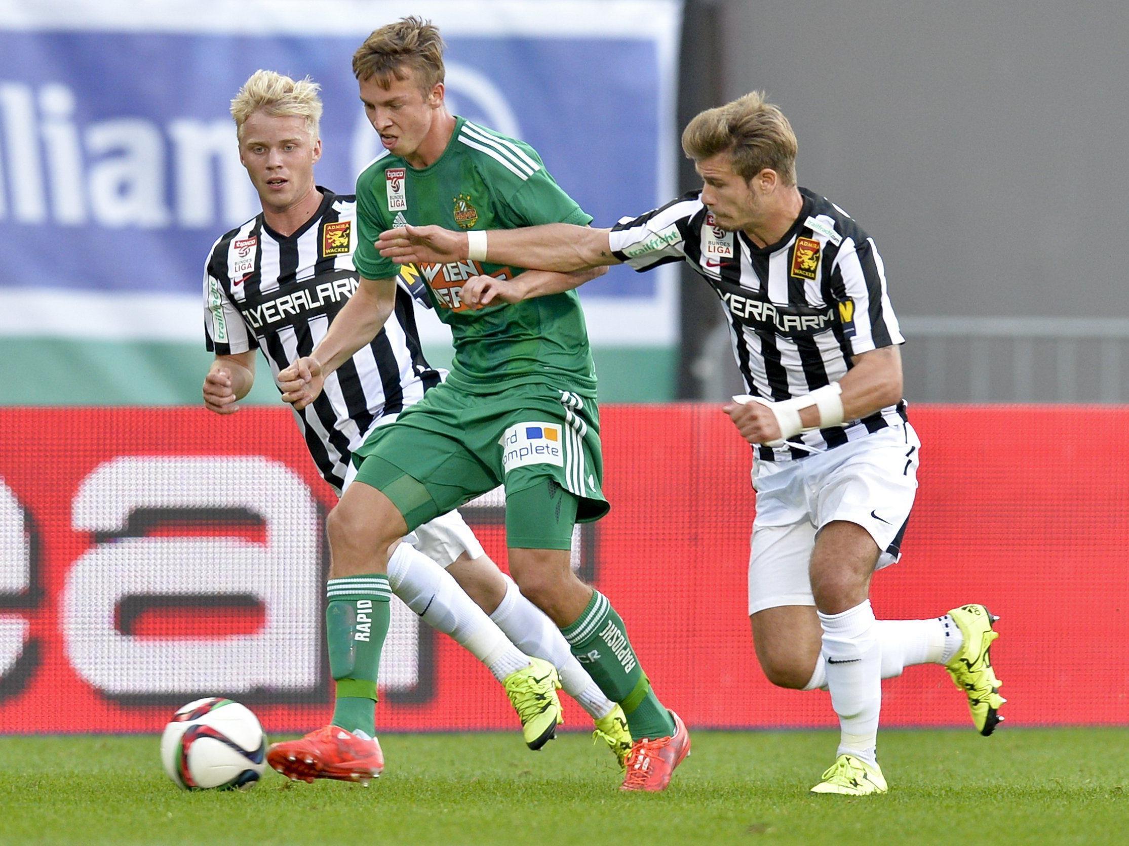 LIVE-Ticker zum Spiel FC Admira Wacker Mödling gegen SK Rapid Wien ab 18.30 Uhr.