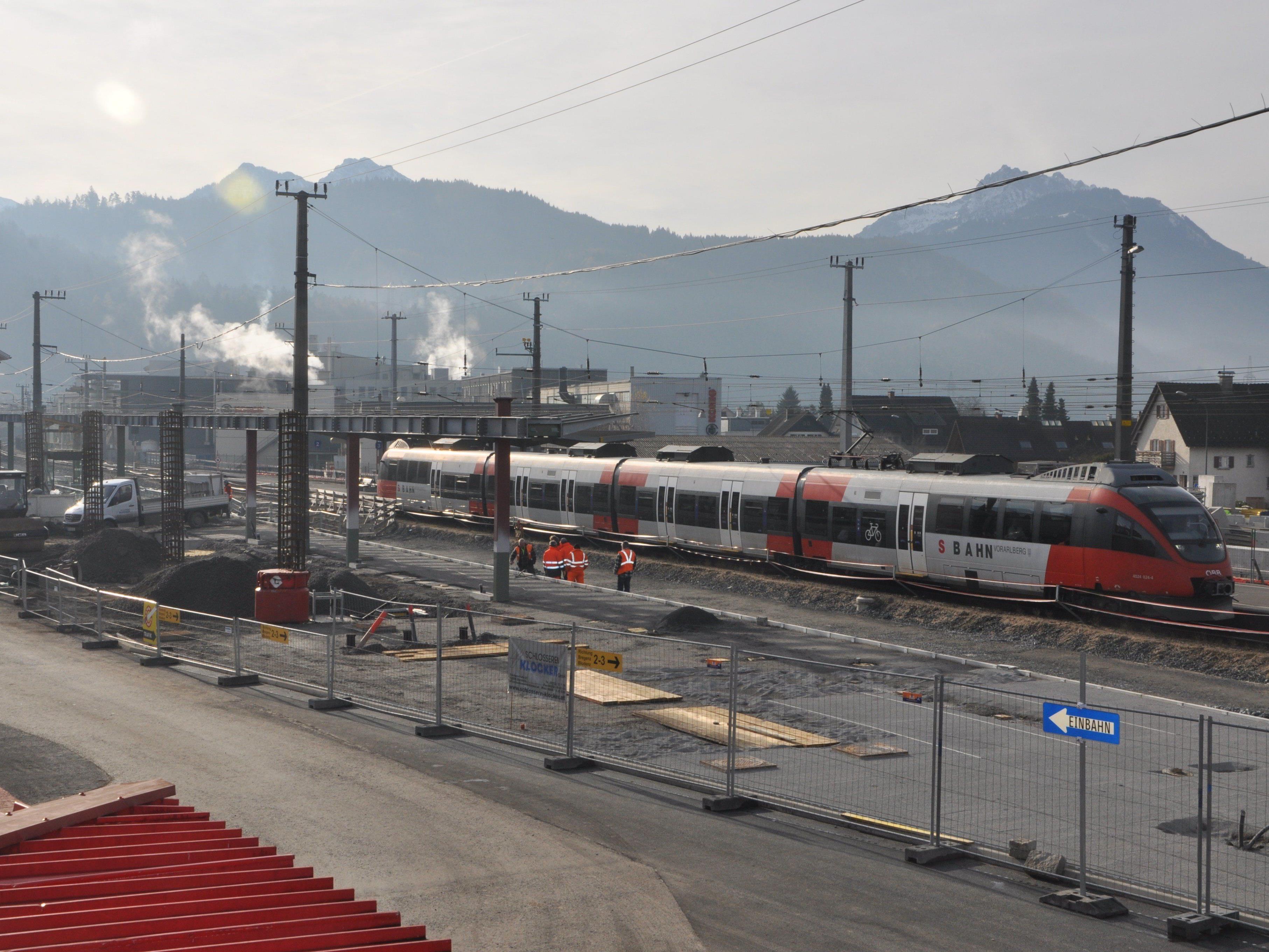 DIe Baupahse 2 beim Projekt Neu bzw. Umbau Bahnhof Rankweil wird Ende des Jahres abgeschlossen.