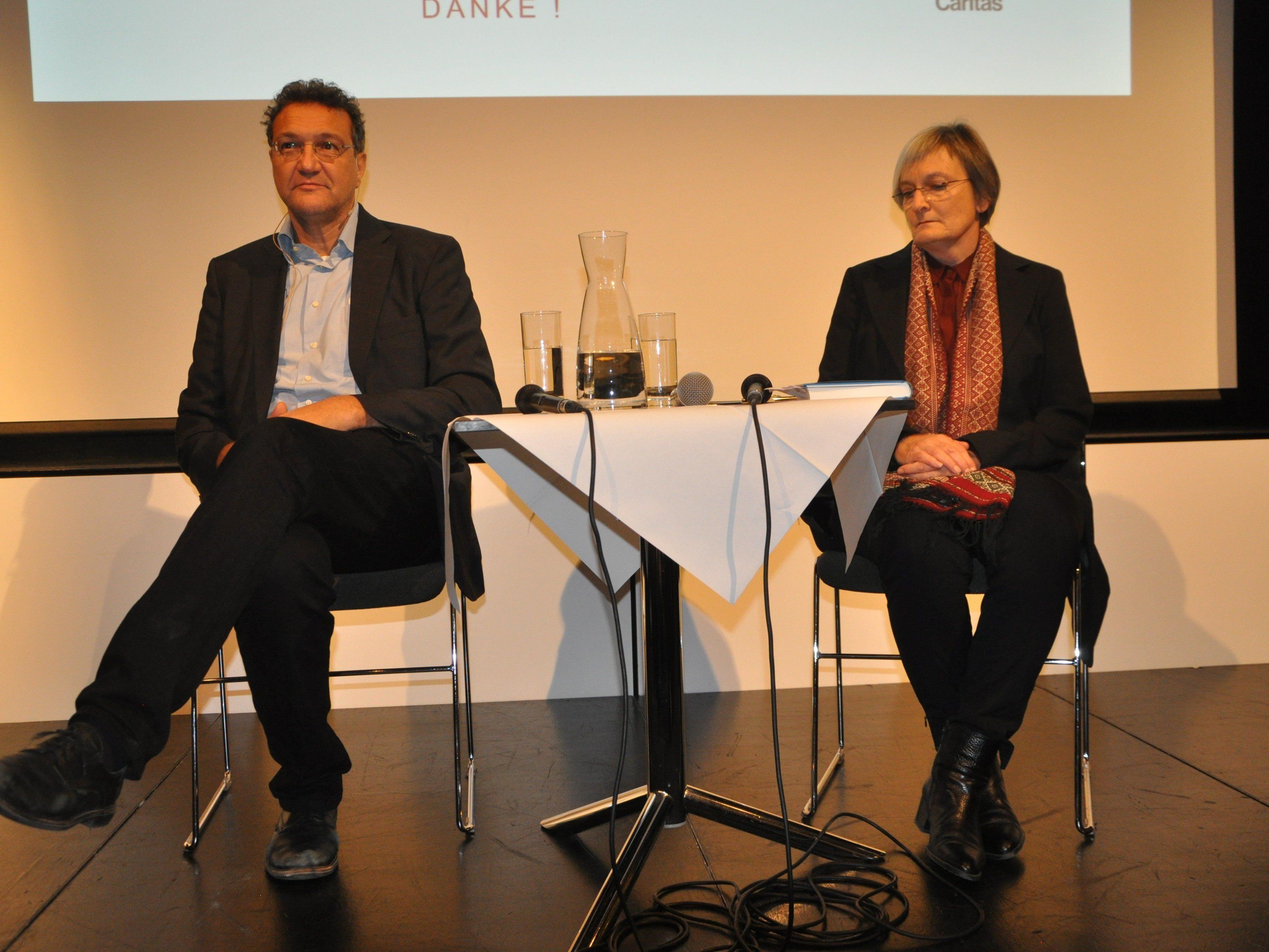 Karim El-Gawhary und Moderatorin Jutta Berger imRankweiler Vinomnasaal