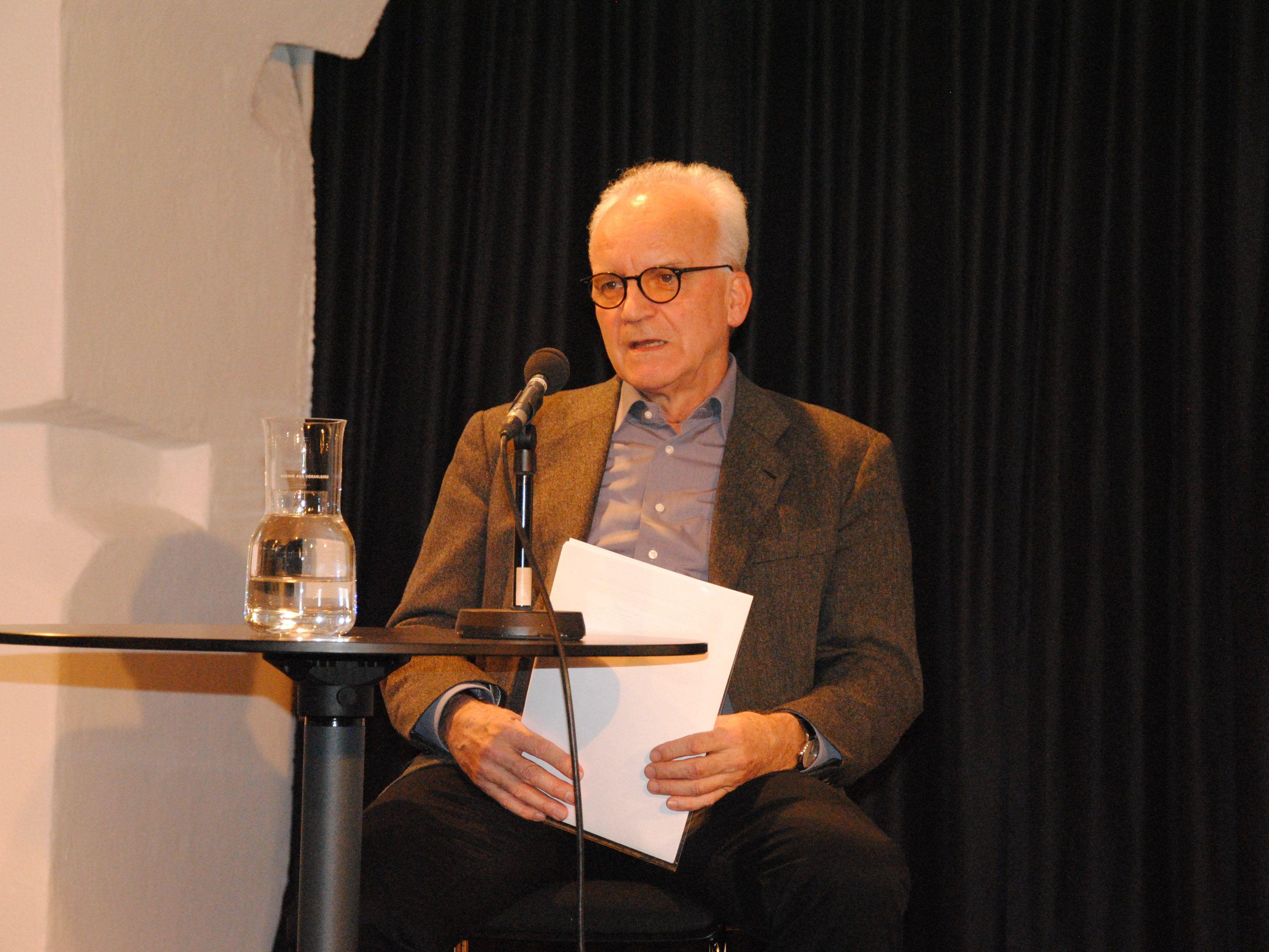 Der prominente´Vorarlberger Germanist Klaus Amann im TaS.