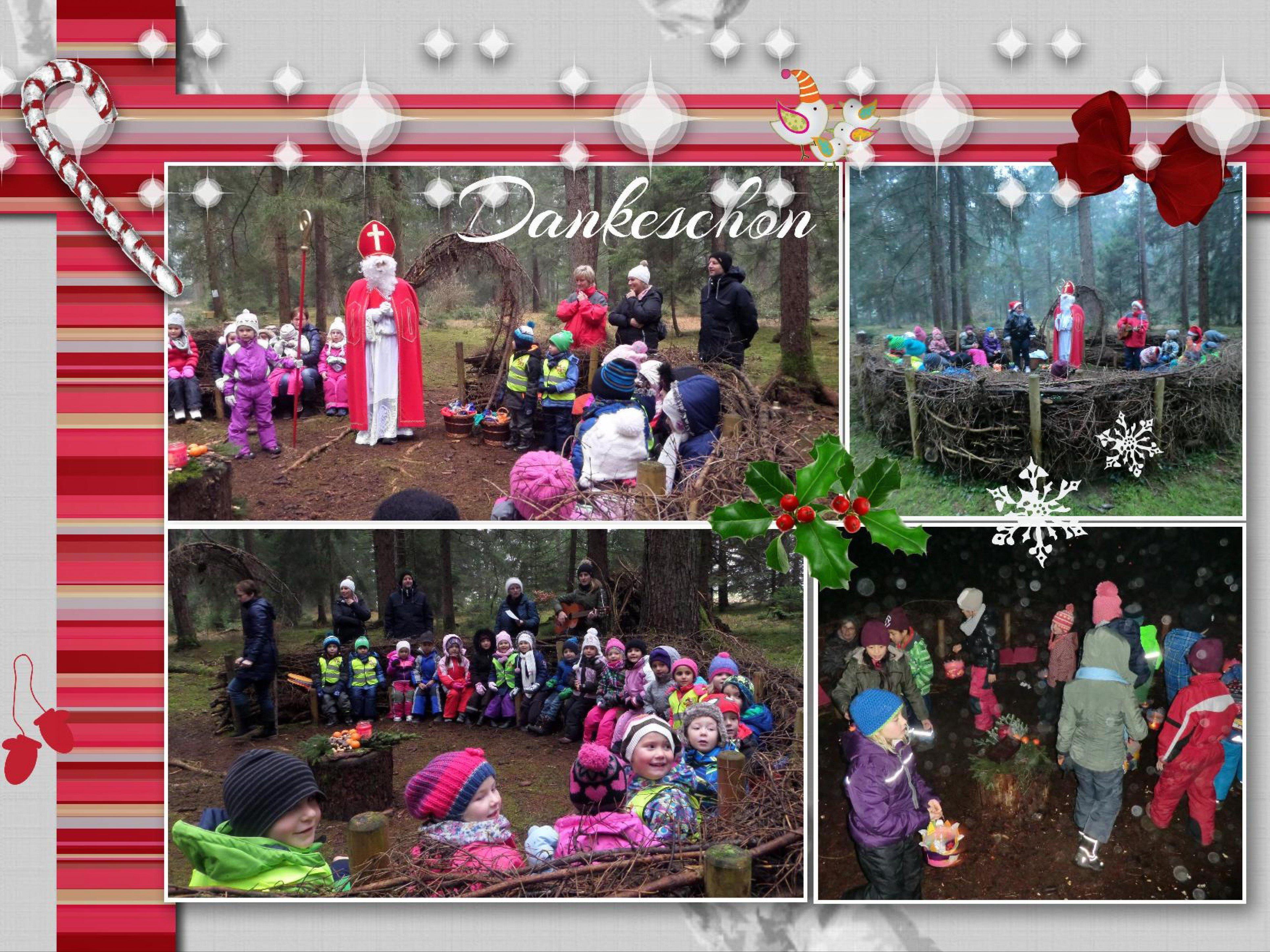 Der Nikolaus besuchte die Kinder im Wald
