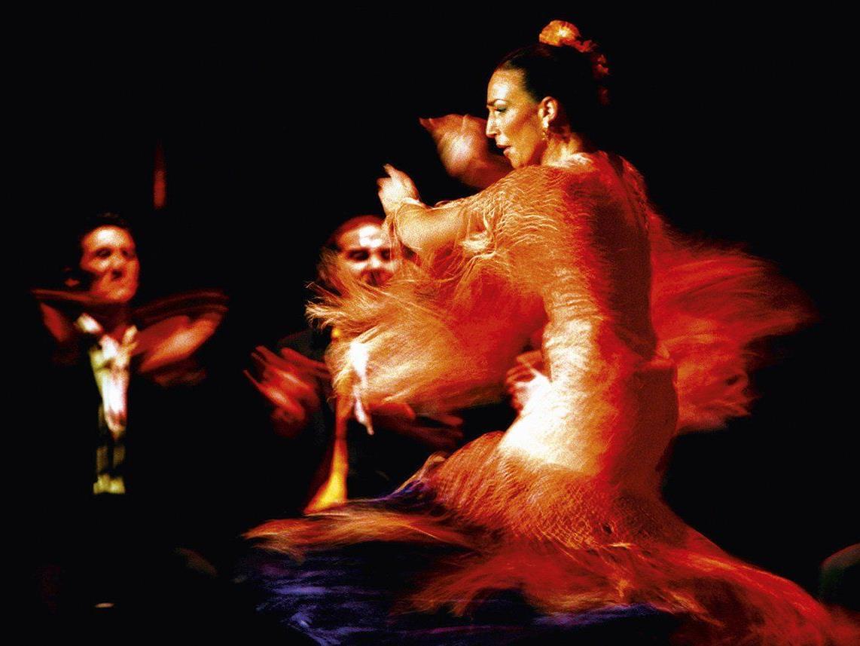 """Maria Serrano, die """"Königin des Flamincos"""", in ekstatischer Aktion."""