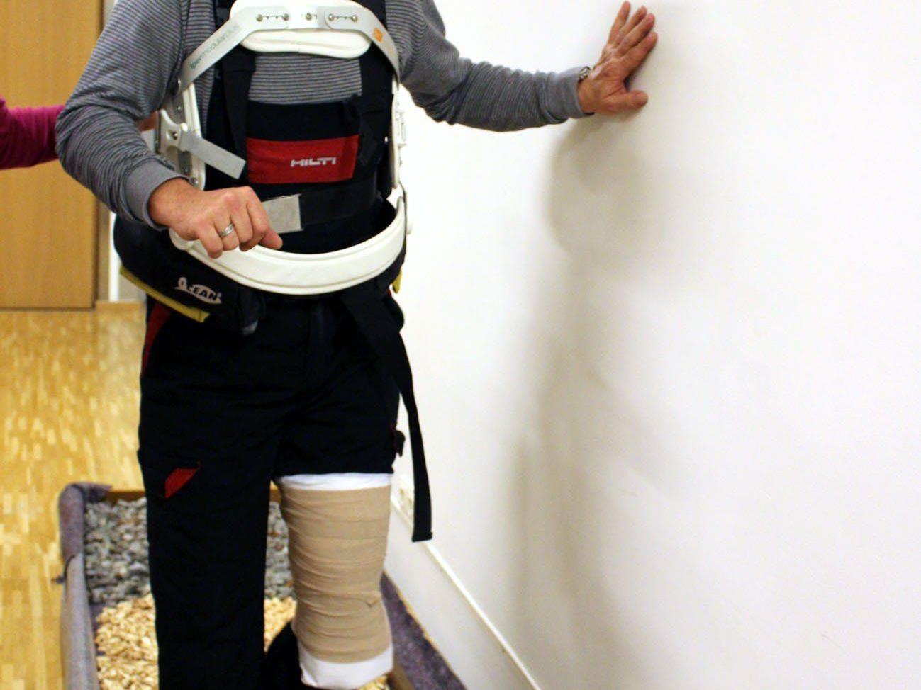Markus Jussel, Pflegehelfer im SeneCura Laurentius-Park Bludenz, wollte wissen, wie sich der Bewegungsapparat und die Bewegungsabläufe im Alter verändern.