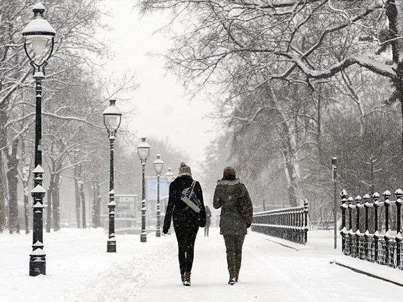 Schnee, so weit das Auge reicht: Ein solcher Anblick ist rund um den Heiligen Abend in Wien unwahrscheinlich