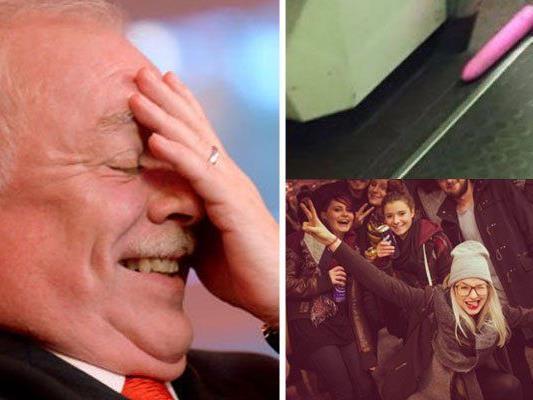 Memes über Bürgermeister Häupl, ein U-Bahn fahrender Vibrator und eine Party für eine Rolltreppe: Über diese Skurrilitäten lachte Wien 2015